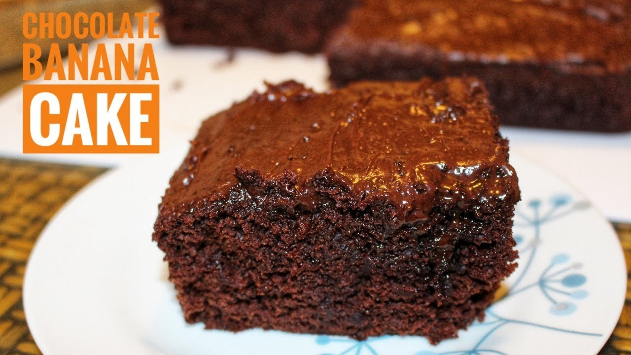 Banana Cake Recipe Chocolate Icing: Chocolate Banana Cake Recipe-Chocolate Cake With Banana