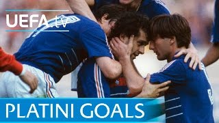 Michel Platini's nine goals for France at EURO 84