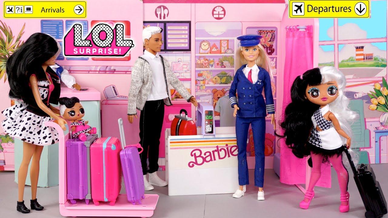 Barbie LOL OMG Family Travel Routine - Titi Dolls