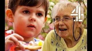 81 Year Old & 4 Year Old Form Most Adorable Bond | Old People's Home For 4 Year Olds