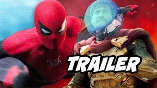 SpiderMan Far From Home Trailer  Avengers Endgame and Mysterio Easter Eggs Breakdown video