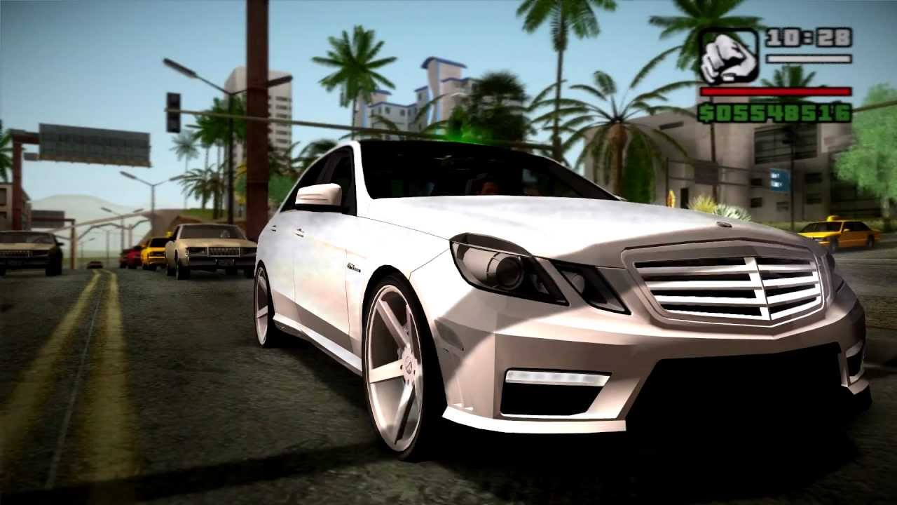 vossen wheels gta sa 2010 mercedes benz e63 amg youtube. Black Bedroom Furniture Sets. Home Design Ideas