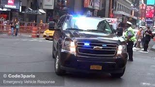Secret Service Suburban + NYC Emergency Ambulances