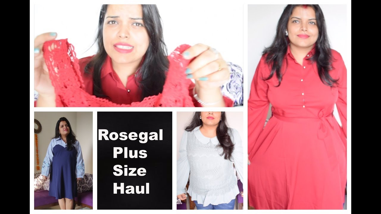 0559ea70779 Rosegal PLUS SIZE Outfits Haul India - for Curvy Girls - YouTube