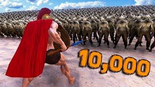 【DE JuN】10,000殭屍大軍來襲 !! (史詩戰爭模擬器)