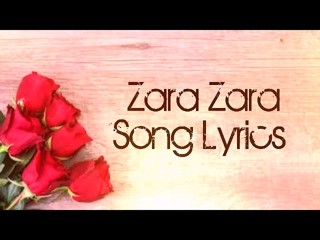 ZARA ZARA BEHEKTA HAI (LYRICS) OMKAR FT, ADITYA BHARDWAJ
