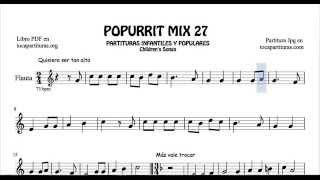 27 de 30 Popurrí Mix Partituras Populares Infantiles de Flauta Dulce Quiero ser tan alta