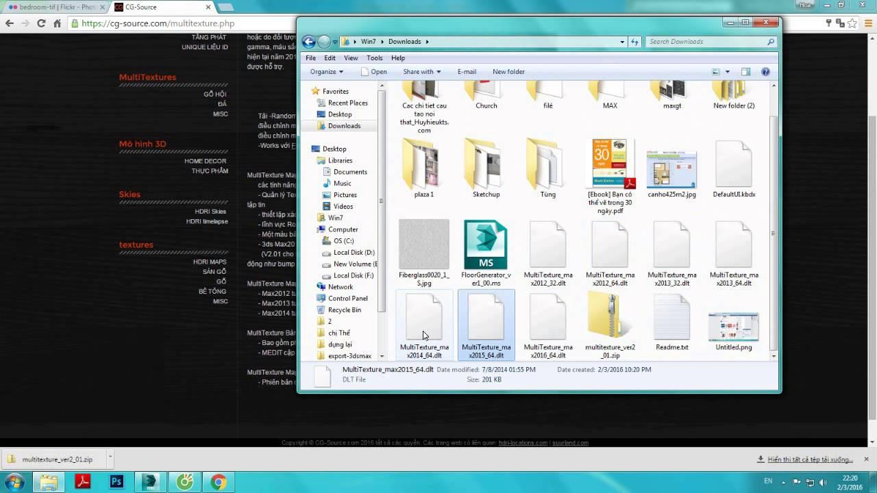 Tutorial plugin Floor Generator and Multitexture map for 3ds max