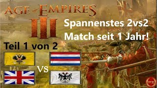 Spannenstes Match seit 1 Jahr - Teil 1 -  Age of Empires III 2vs2 | Russland [Deutsch/HD]