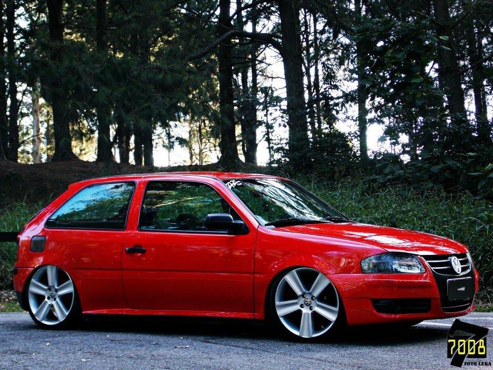 Sem Dó!VW Gol G4 Rebaixado Roda Paralama Suspensão Fixa ...