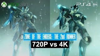 [4K] Zone of the Enders: The 2nd Runner - Xbox 360 vs PS4 Pro!