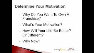 Franchising Webinar - How to Make the Franchise Decision