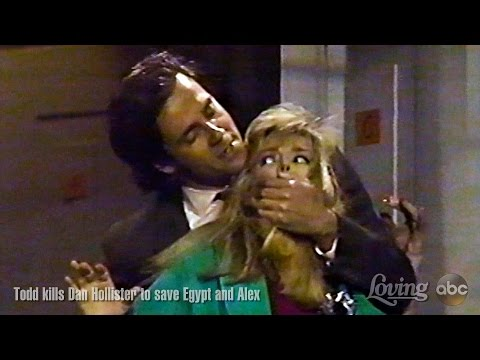Loving Soap Opera  Todd Jones kills Dan Hollister to save Egypt and Alex  Todd McDurmont
