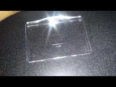 Transparent ID Card Holder HL-1  FOR CHEMICAL ID CARDS