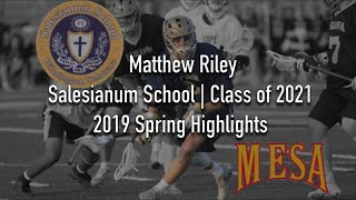 2021 Matthew Riley - 2019 Spring Faceoff Highlights