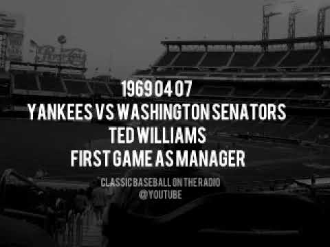 1969 04 07 Yankees vs Washington Senators Ted Williams First Game as Manager