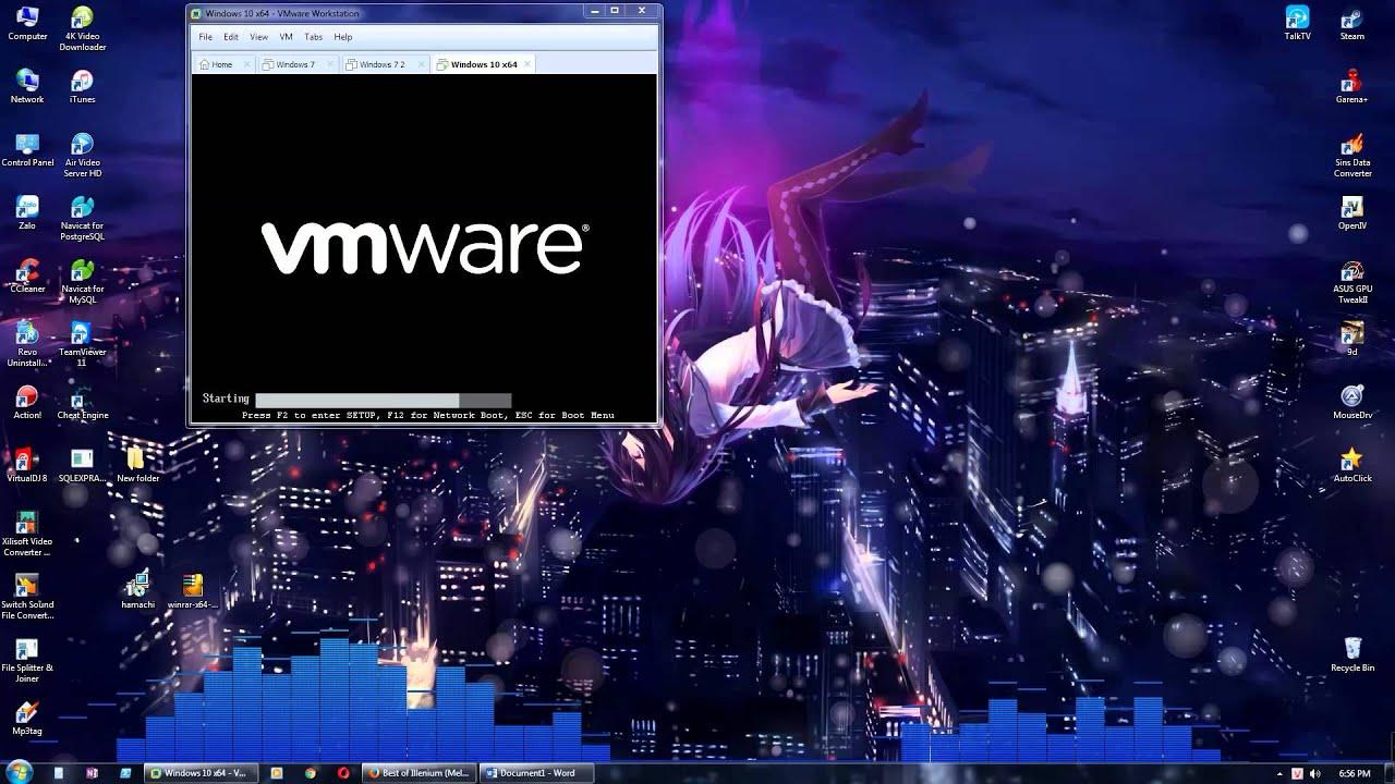 hướng dẫn cài đặt 9d bằng vmware on hamachi