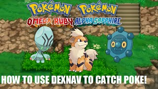 Pokemon Omega Ruby and Alpha Sapphire DEXNAV GUIDE CATCH/FIND POKEMONS, GROWLITHE, BRONZOR, ELGYEM!