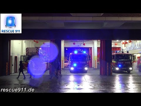 [London Fire Brigade] FULL HOUSE TURNOUT Soho Fire Station
