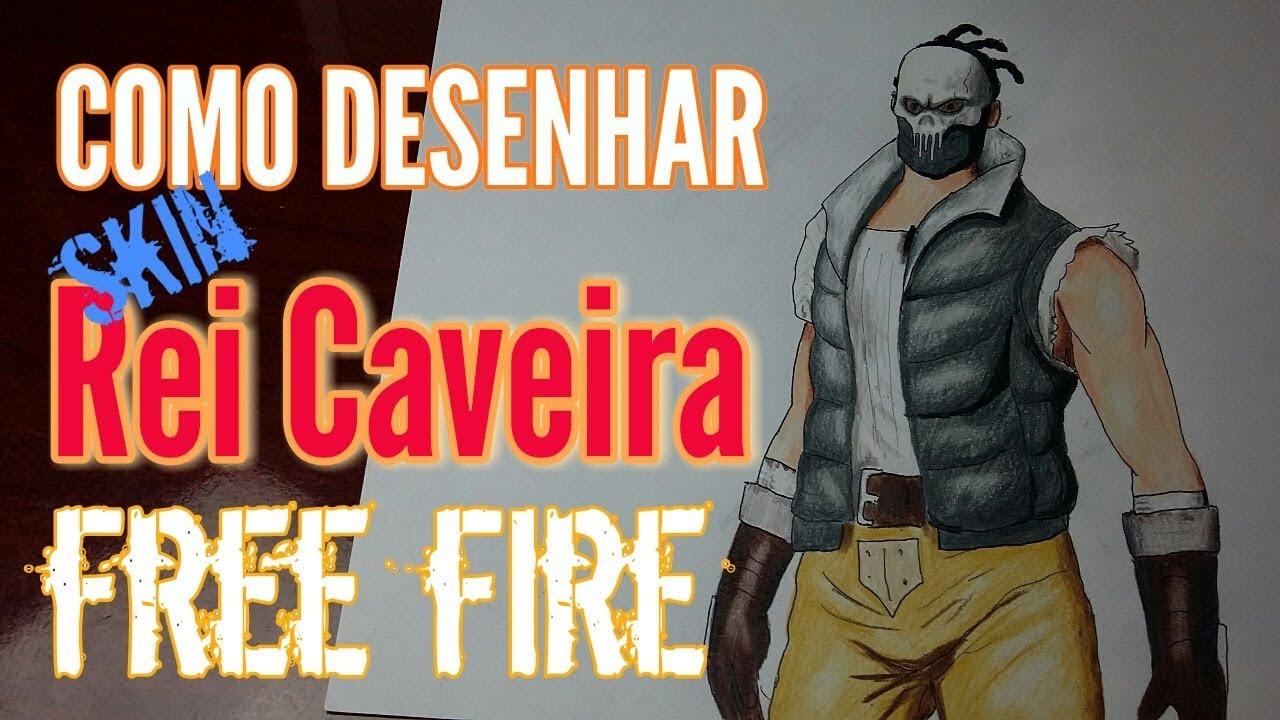 Como Desenhar Skin Do Rei Caveira Do Free Fire Freefire