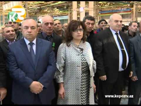 """Gəncə Avtomobil Zavodunda yığılan ilk """"KamAZ"""" konveyerdən çıxarılıb KEPEZ TV"""