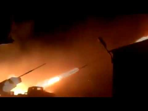 Grads DNR firing at APU 01 Feb.2015. Ukraine Hot News