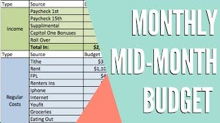 OCTOBER 2018 MID-MONTH ZERO BASED BUDGET | REAL NUMBERS | Dumping Debt Fridays