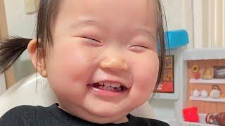 복어공주 아기 웃음 21개월 밥먹다 배꼽빠지게 웃기 육…