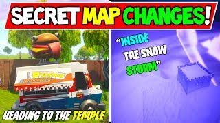 "*NEW* FORTNITE SECRET MAP CHANGES! ""INSIDE THE SNOW STORM!"" - Season 7 ICEBERG + Durr Burger War!"