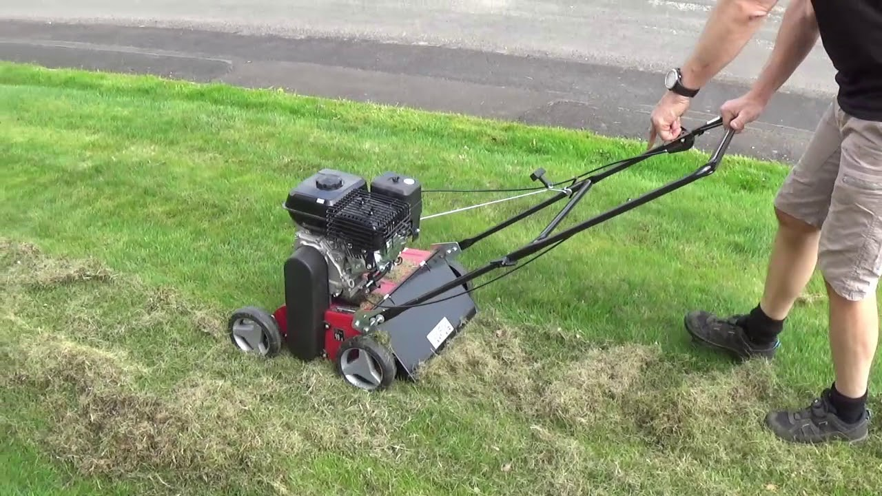 d6a80c2b36 Einhell GC-SC 2240 P Scarifier Demonstration and Review - YouTube