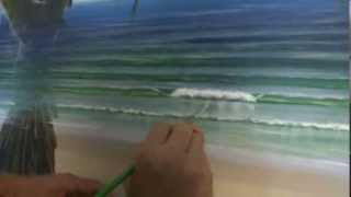 Acrylic Painting Techniques - How To Paint Waves Part 2 - Reflections In Whitewash