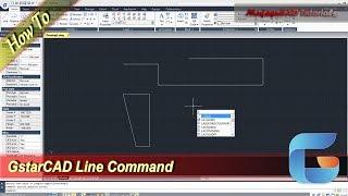 GstarCAD Line Command Basic Tutorial For Beginner