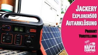 Vorstellung Jackery Explorer 500 & SolarSaga 100 - Wohnwagen autark Solar | Happy Camping