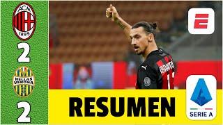 AC Milan 2-2 Hellas Verona. Milagroso empate de ZLATAN IBRAHIMOVIC; Milan sigue como líder | Serie A