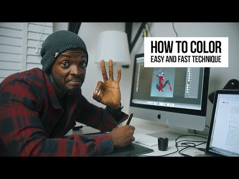 How To Color- Easy And Fast Technique In Photoshop