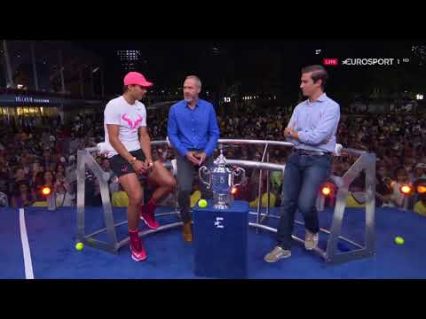 Rafael Nadal Interview at the Eurosport studio after his victory at USO 2017