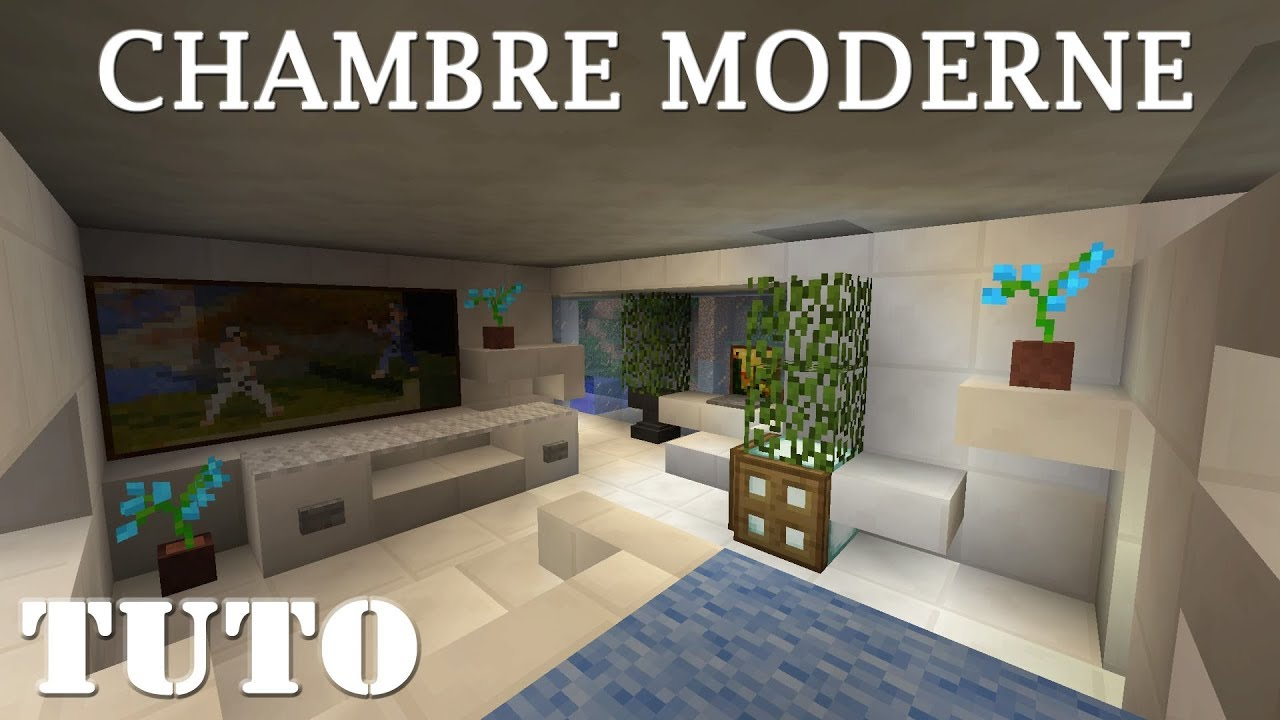 MINECRAFT - Comment faire une chambre moderne (ps4) - YouTube