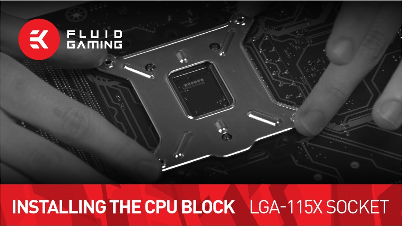 CPU water block installation - LGA-115x Socket Motherboards