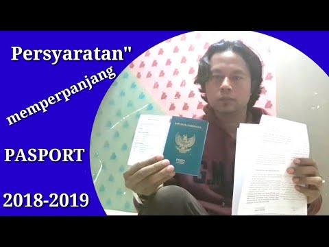 """Persyaratan"""" terbaru untuk memperpanjang pasport 2018-2019"""