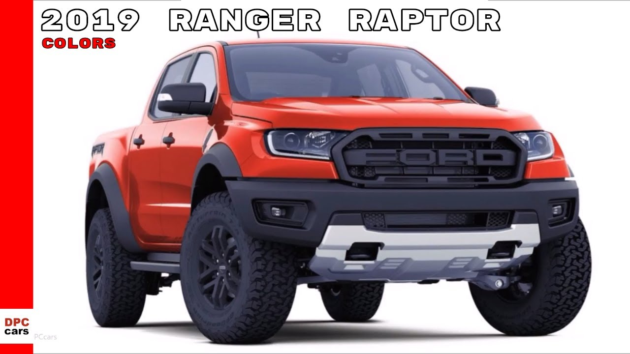 2019 Ford Ranger Raptor Colors - YouTube