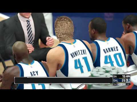 NBA 2K17 Spurs @ Mavericks (PS4) 60FPS