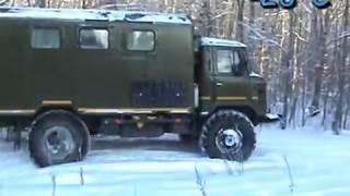 ГАЗ 66 зимняя прогулка
