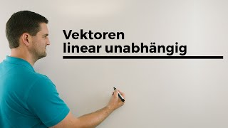 k so wählen, dass 3 Vektoren linear unabhängig sind, Gaussverfahren   Mathe by Daniel Jung