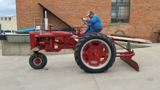 Nice IH McCormick Farmall Super C Tractor W/ Blade Sells At Auction