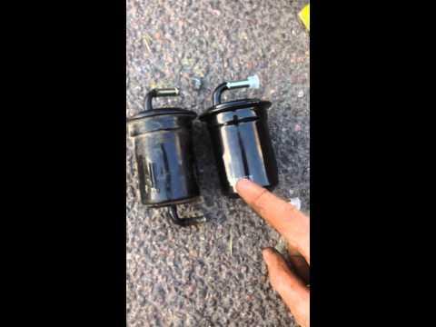 Замена топливного фильтра Mazda Xedos 9