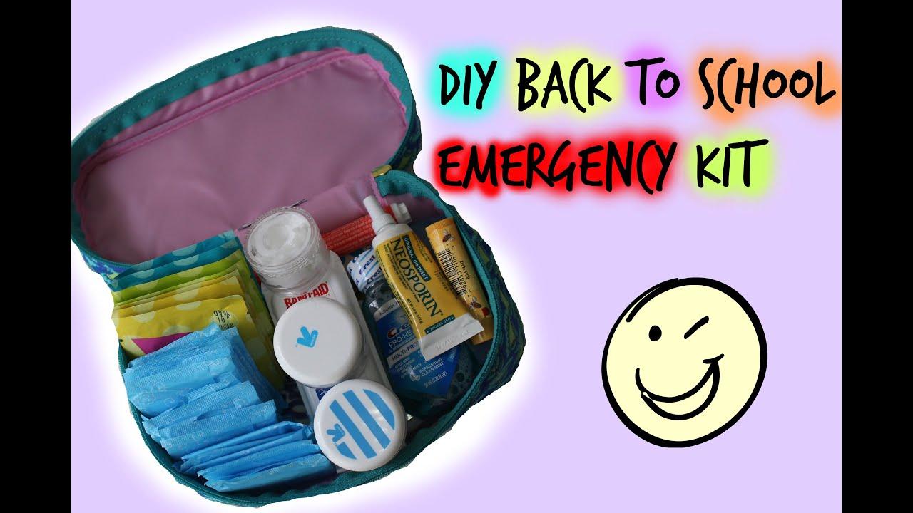 Diy Back To School Emergency Kit Youtube