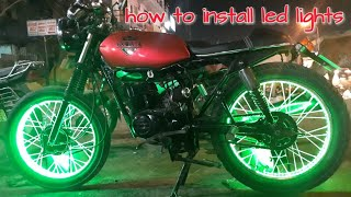 how to install led lights on wheel || Creative science