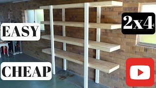 Build Garage Shelves Using Cheap Lumber