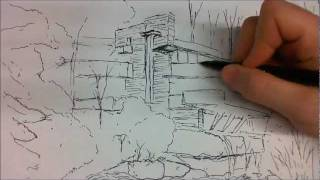 Architectural Sketch - Fallingwater