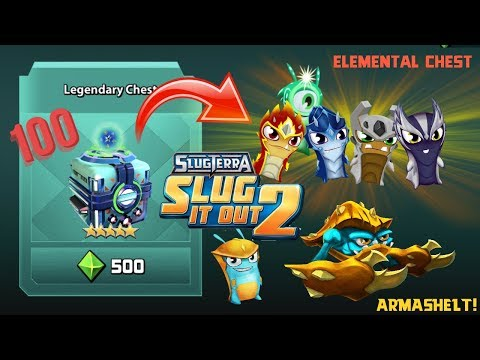 NEW LEGENDARY CHEST! NEW SLUG ARMASHELT!!! - SLUGTERRA SLUG IT OUT 2 UPDATE!